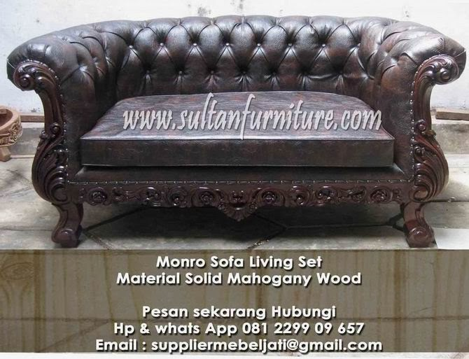 Elegant Furniture Monro Klasik Sofa Ukir Jepara Elegant