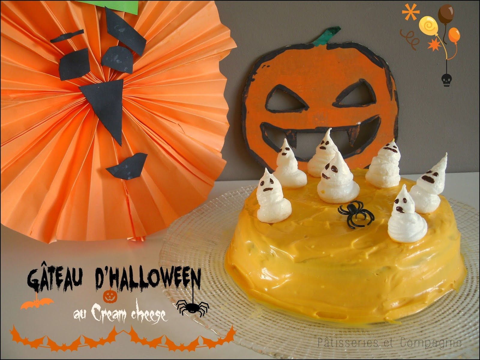 P tisseries et compagnie g teau d 39 halloween au cream cheese - Temps de cuisson gateau au yaourt ...