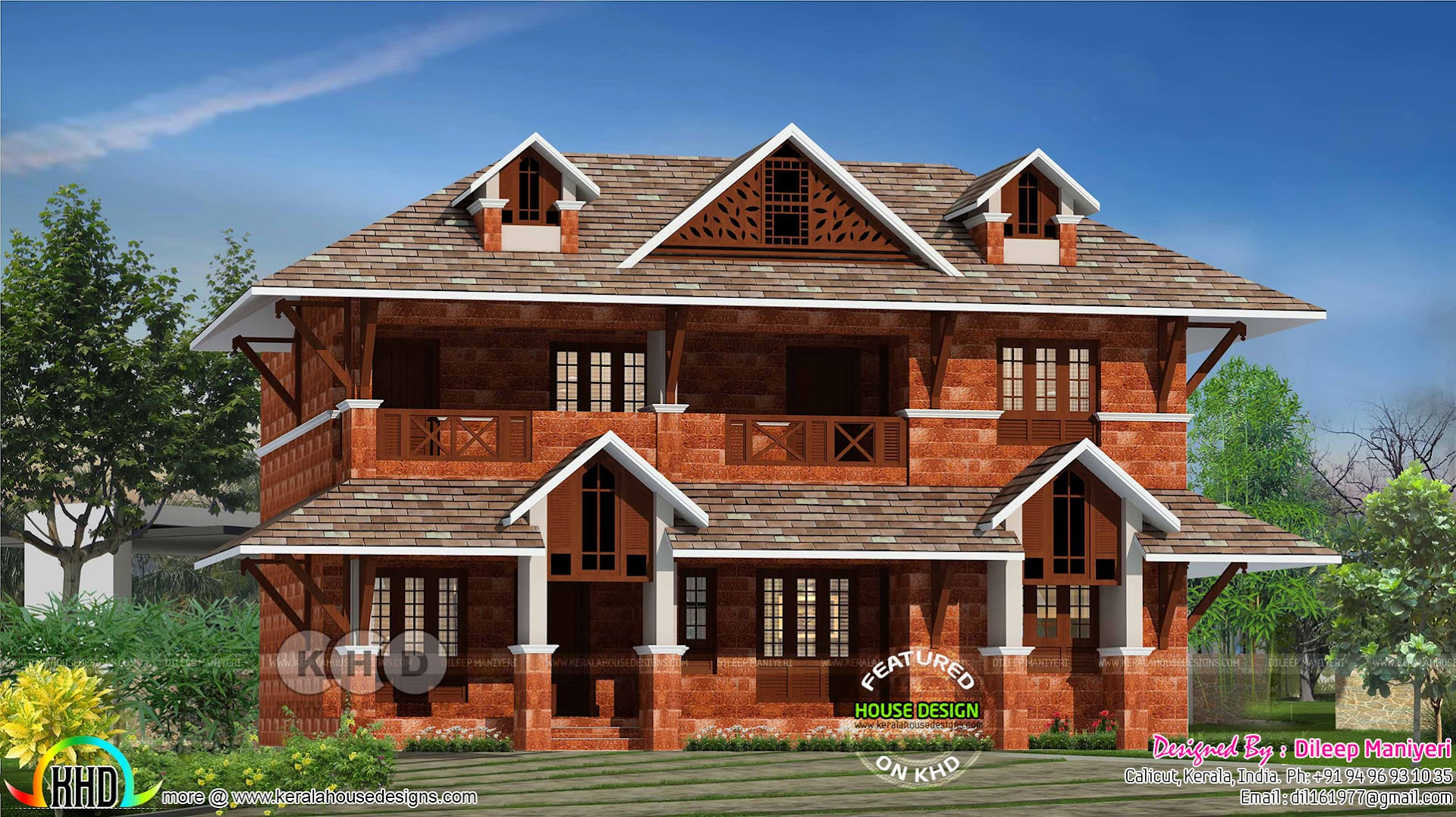 Kerala Laterite Stone Home Design 2200 Sq Ft Kerala Home Design Bloglovin