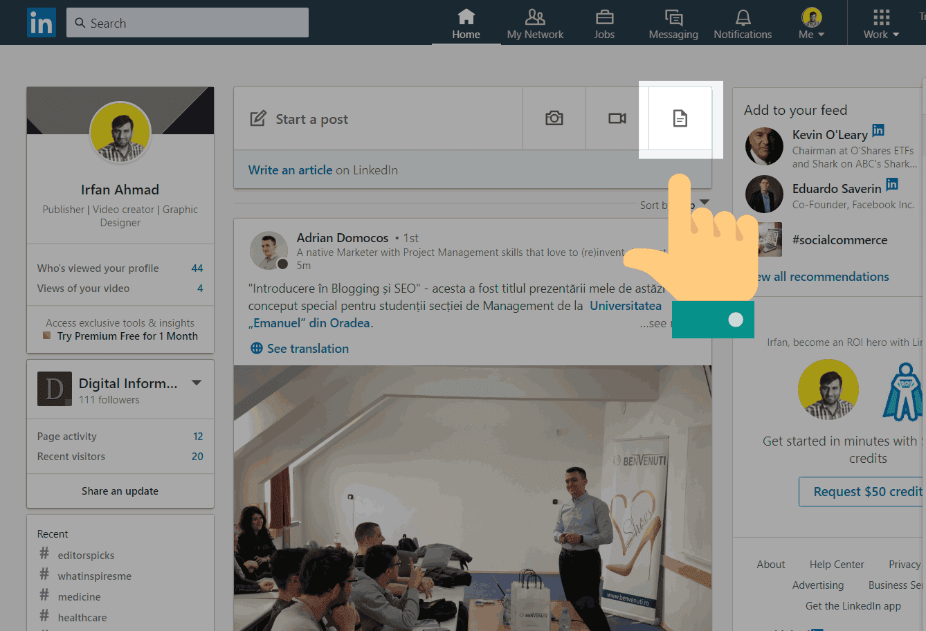 LinkedIn Allowing Its Members to Share Documents and Presentations on Feed Directly