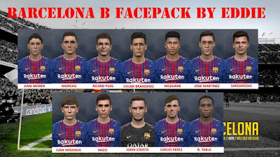 PES 2017 Facepack Barcelona B by Eddie Facemaker