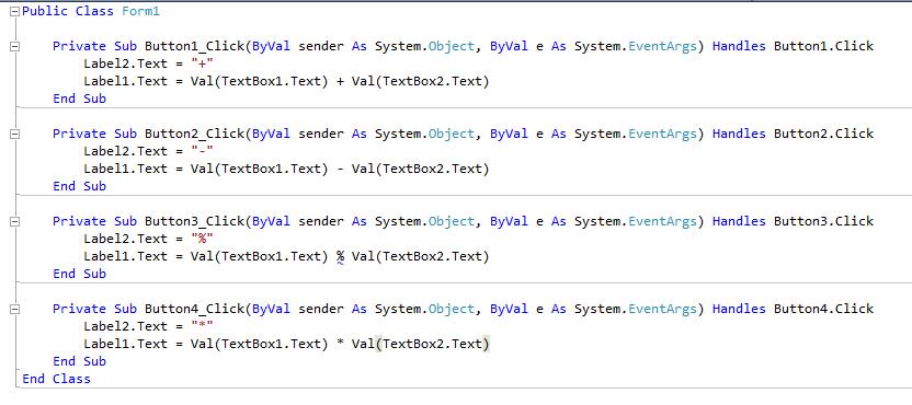 Visual Basic Programming: How to make Calculator using