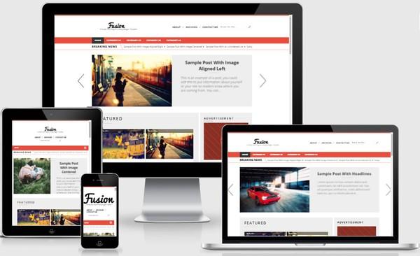 Fusion Responsive Blogger Templates