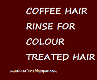 coffee hair rinse