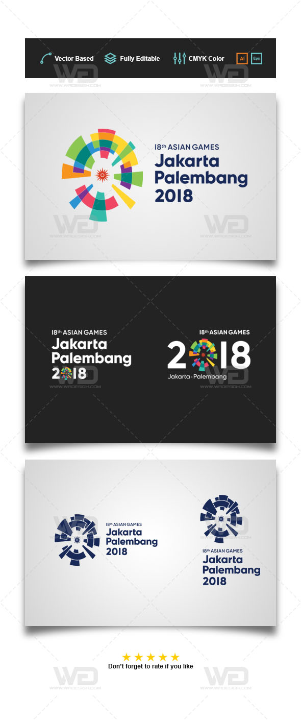 Logo Vector Asian Games 2018