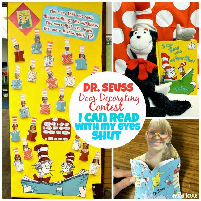 Miss lovie dr seuss door decoration i can read with my for Decor my eyes