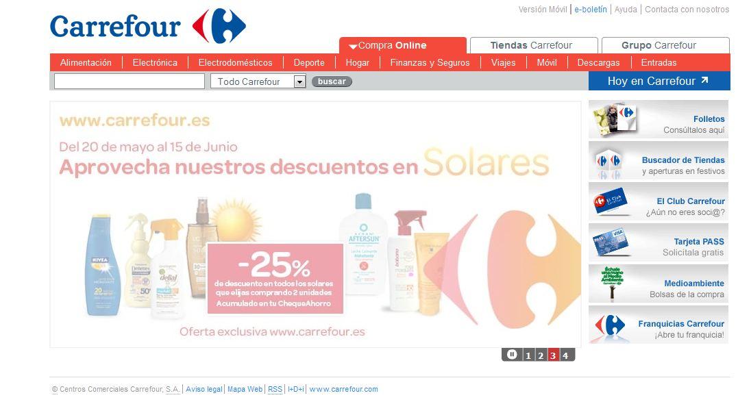 Harto De Carrefour Cambos Extraños En La Web De Carrefoures