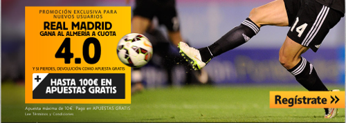 betfair Real Madrid gana Almeria cuota 4 liga 29 abril