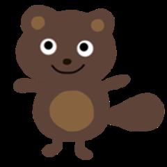Cute raccoon dog pontarou