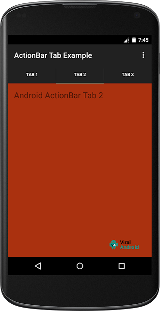 Android ActionBar was introduced from API degree  Android ActionBar Tabs Example