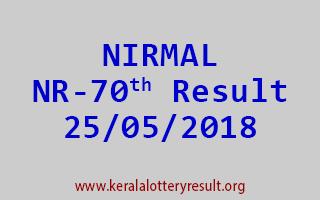 NIRMAL Lottery NR 70 Result 25-05-2018