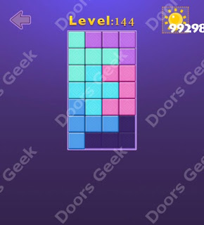 Cheats, Solutions, Walkthrough for Move Blocks Easy Level 144