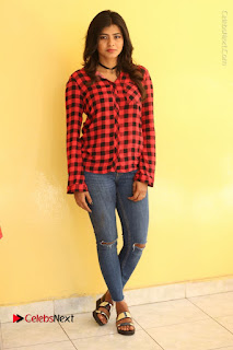 Actress Hebah Patel Stills in Blue Denim Jeans at Nanna Nenu Naa Boyfriends Movie Success Meet  0091.JPG