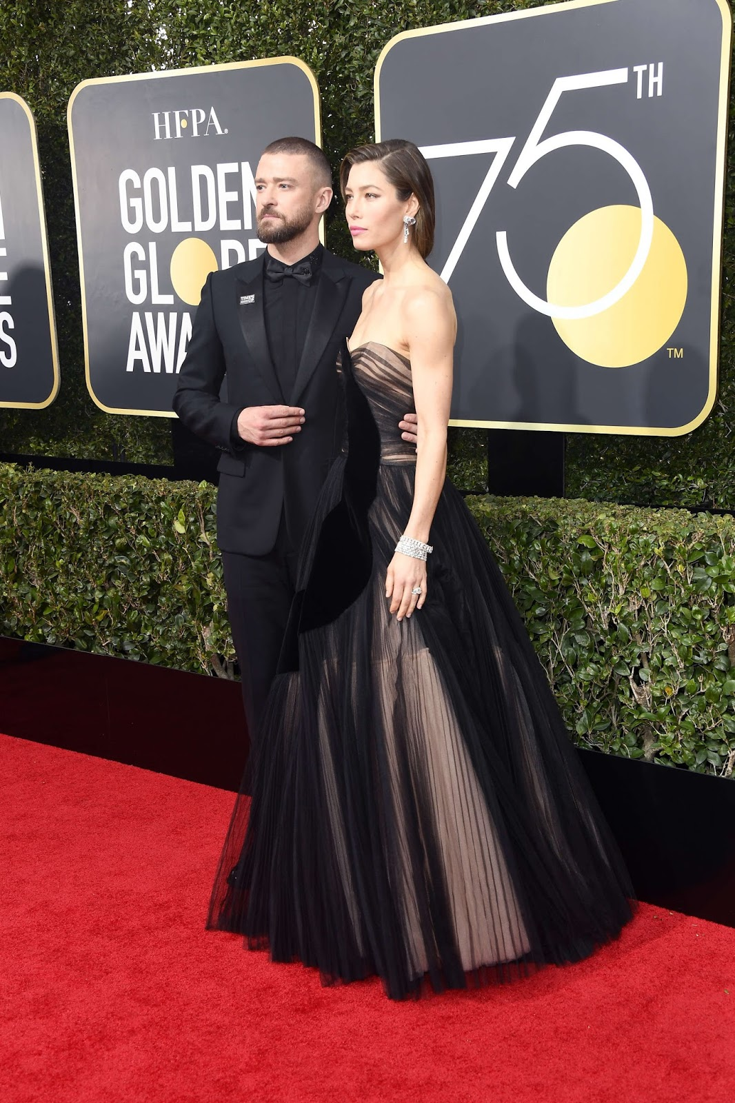 Jessica Biel and Justin Timberlake at Annual Golden Globe Awards