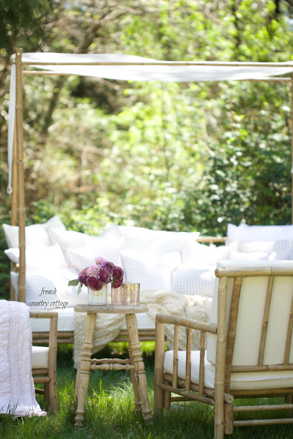 French Country Fridays- 8 ideas for styling a summer patio