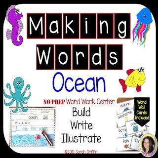 https://www.teacherspayteachers.com/Product/Making-words-Ocean-Animal-Writing-Center-3783745