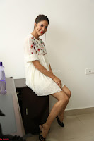 Lavanya Tripathi in Summer Style Spicy Short White Dress at her Interview  Exclusive 153.JPG
