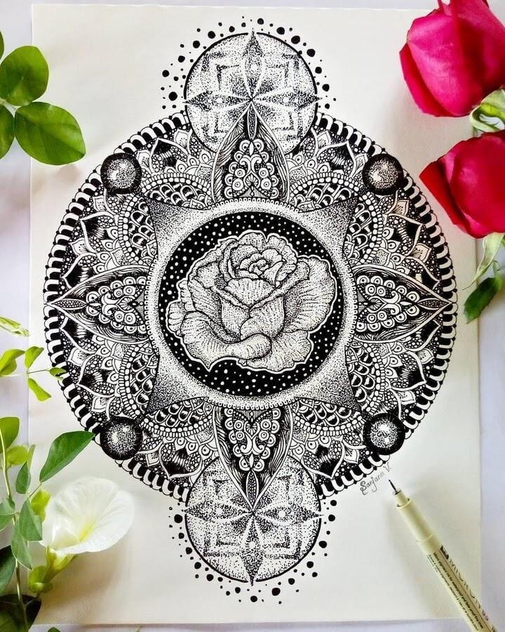11-The-Rose-Mandala-S-V-Apnar-www-designstack-co