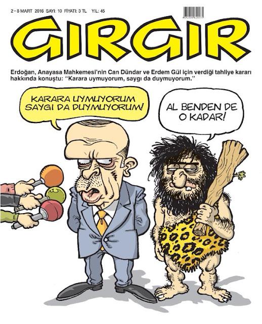 Gırgır Dergisi - 2-8 Mart 2016 Kapak Karikatürü