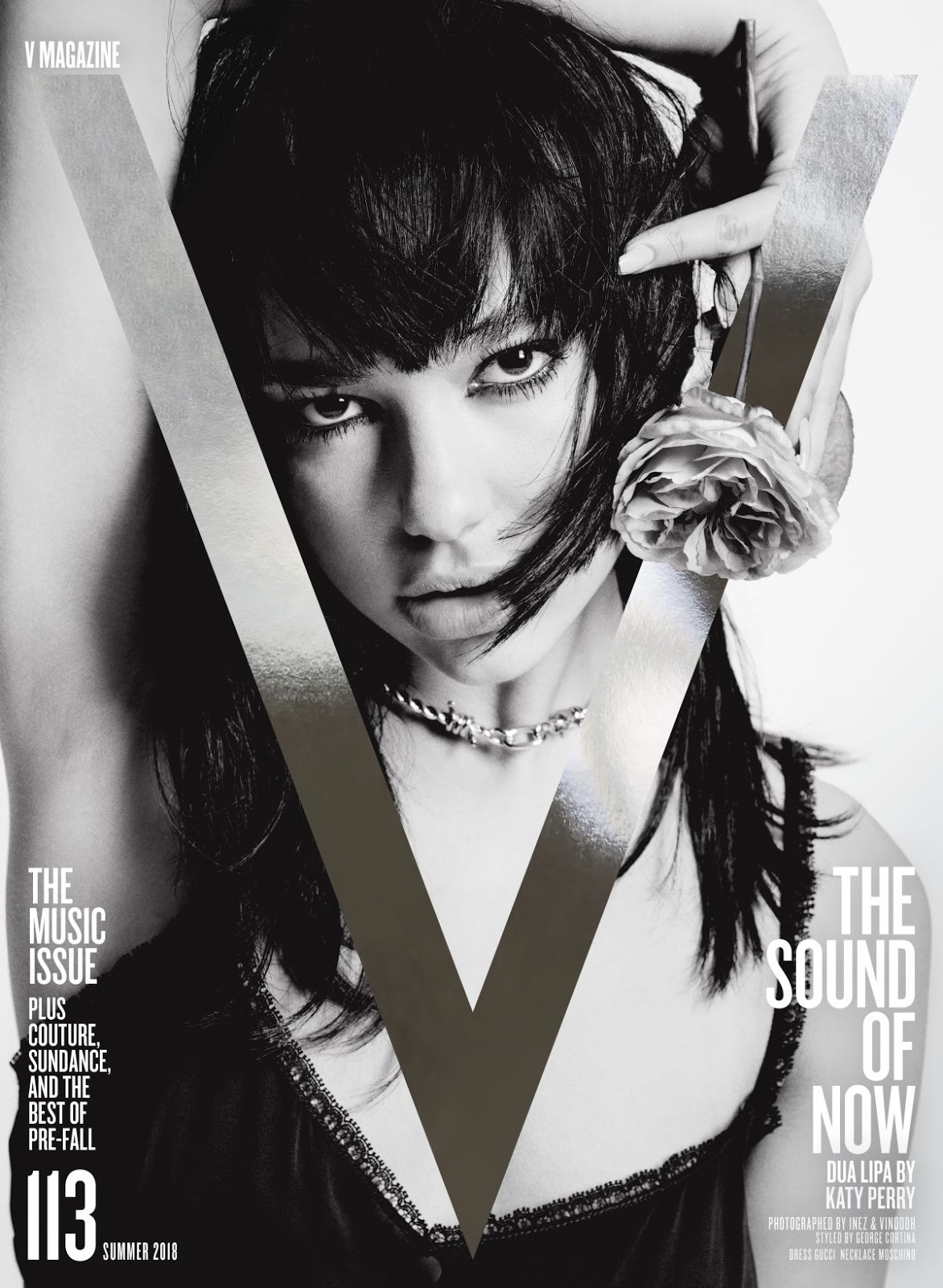 Dua Lipa goes monochrome for V Magazine's issue 113