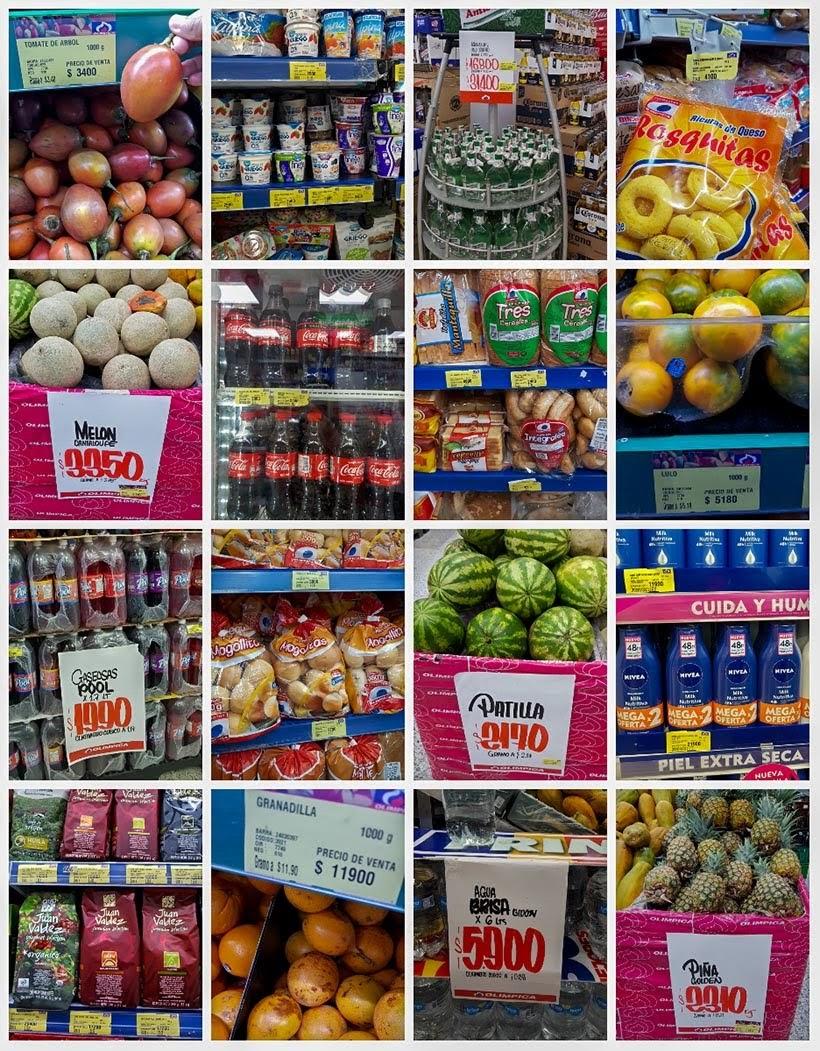 Alguns preços no mercado de Cartagena - Diário de bordo: 4 dias em Cartagena, Colômbia