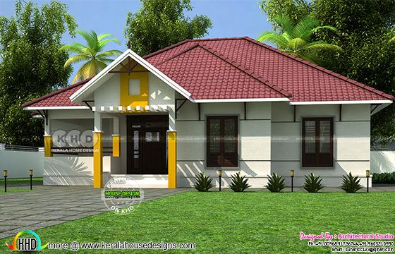 1400 square feet 3 bedroom sloped roof home