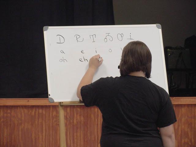 photograph of Ahyoka teaching