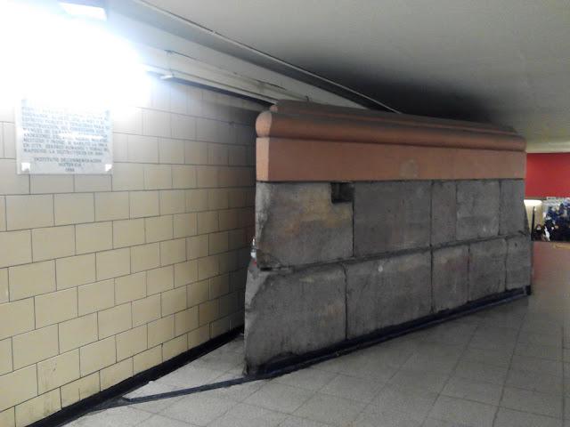 Restos Puente de Calicanto en el metro de Santiago Chile