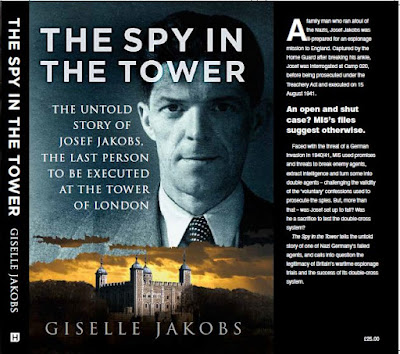 The Spy in the Tower - by Giselle Jakobs front cover and inside flap - The History Press