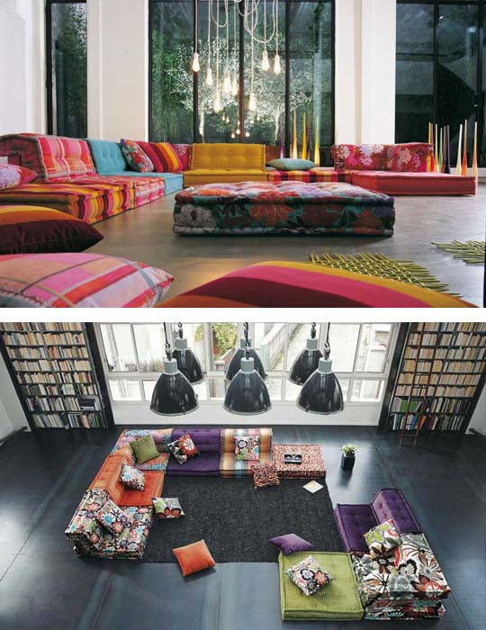 Living Room Inspiration 120 Modern Sofas By Roche Bobois: Inspiring Interior Design Living Room With Modern Sofas