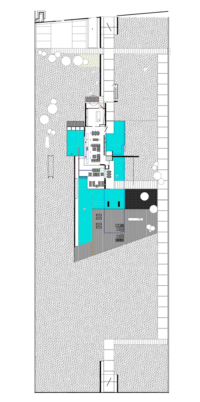 Site plan of the modern home property