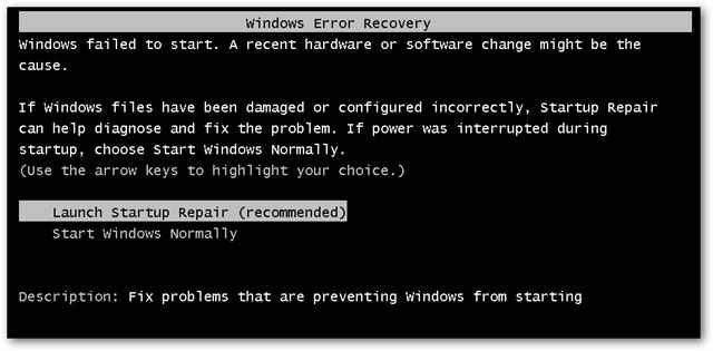 Cara Mengatasi Windows Error Recovery tanpa CD Instal Ulang_