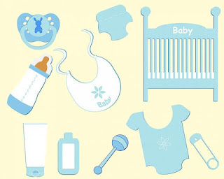 This is a picture of essential things for newborn