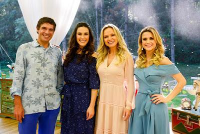 Olivier, Nadja, Eliana e Beca - Crédito: Zé Paulo Cardeal/SBT