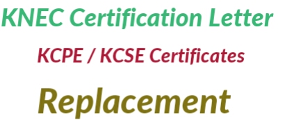 How to get certification letter from Knec