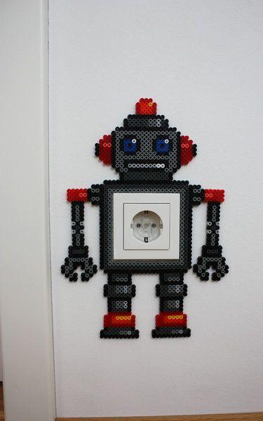 hama boncuğu robot