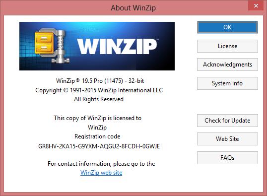 WinZip PRO 21 + Key โปรแกรมบีบอัดไฟล์