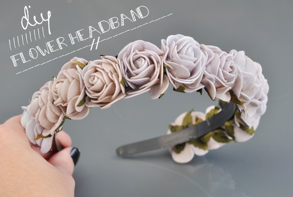 DIY Serre-tête couronne de fleurs // DIY Flower headband -
