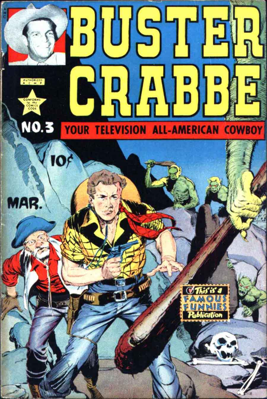 Buster Crabbe v1 #3 golden age comic book cover art by Al Williamson
