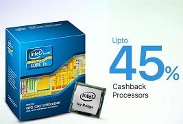 Flat 30% to 45% Extra Cashback on Computer Processors (Intel / AMD) @ Paytm