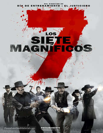 Poster Of The Magnificent Seven 2016 English 550MB BRRip 720p ESubs HEVC Free Download Watch Online downloadhub.in