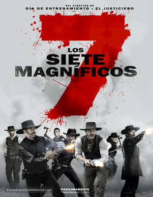 Poster Of The Magnificent Seven 2016 In Hindi Bluray 720P Free Download