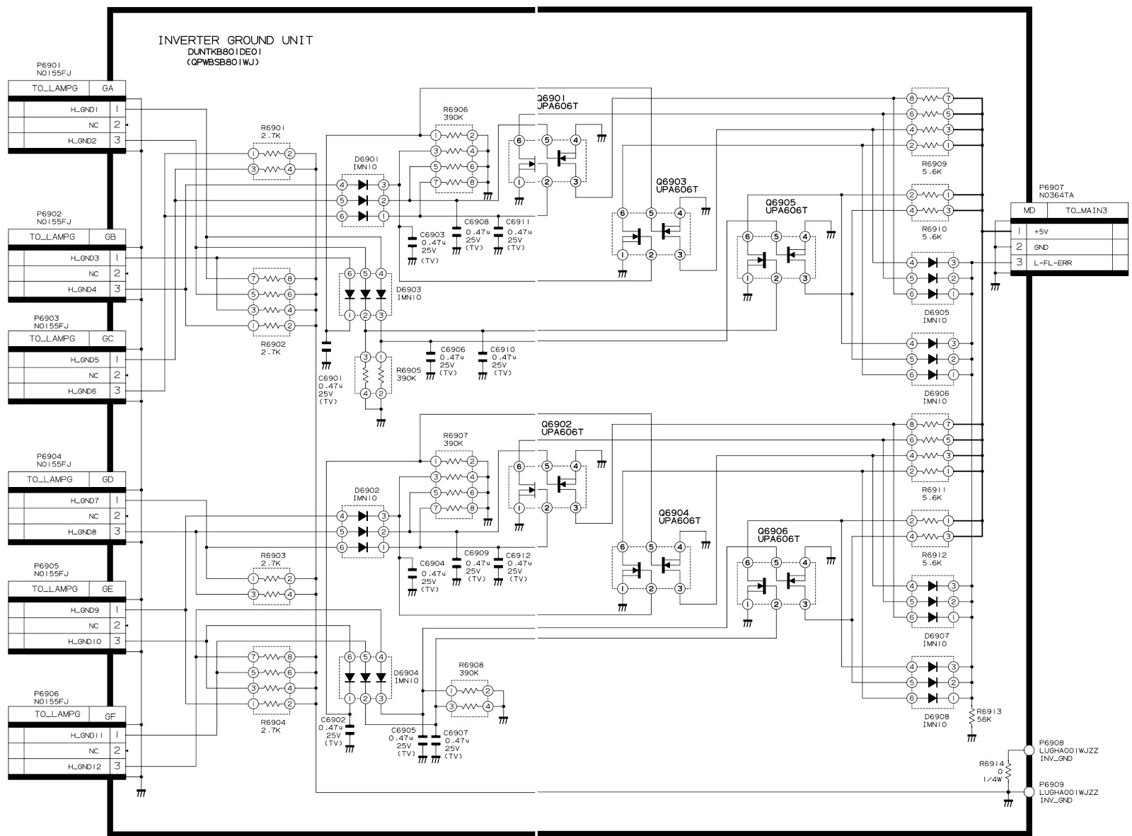 Sharp lc 30hv4u lc 30hv4d smps and back light inverter circuit smps power supply circuit diagram asfbconference2016 Gallery
