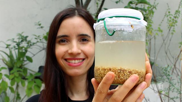 Como fazer REJUVELAC DE linhaça | Funciona como iogurte e Yakult | Bebida probiótica