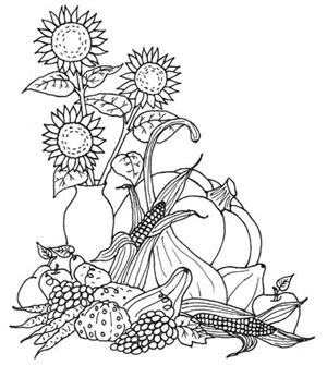 turkey fall coloring pages | Thanksgiving Fall Coloring Pages