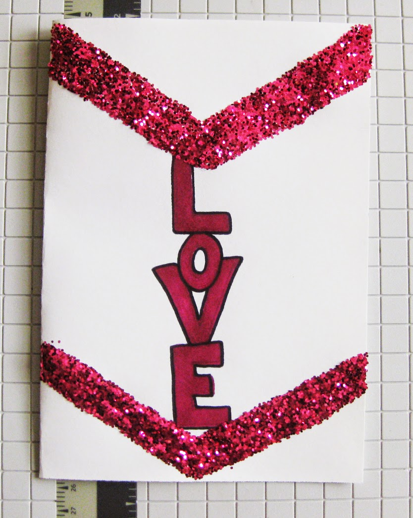 DIY Glitter Valentine's Day Cards | Live Love in the Home