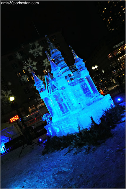 Esculturas de Hielo de la First Night Boston 2018 en Copley Square