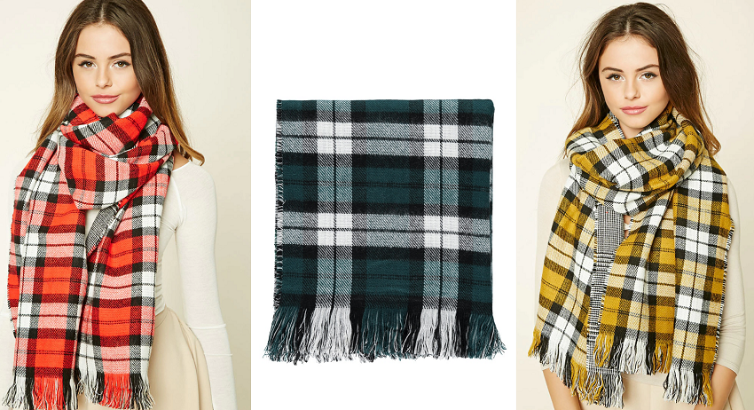 Forever 21 Tartan Plaid Scarf for only $10