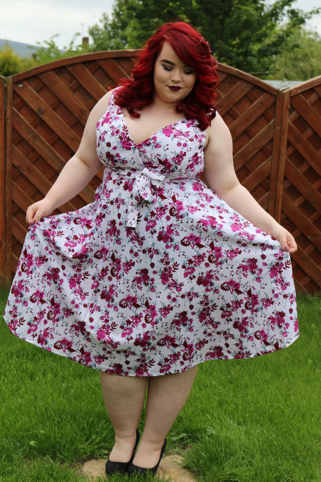 bbw couture's floral 1950s vintage party dresses