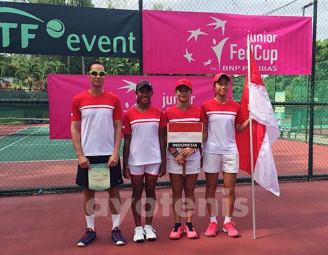 Fed Cup Junior 2018: Indonesia Lumat Mongolia di Laga Perdana
